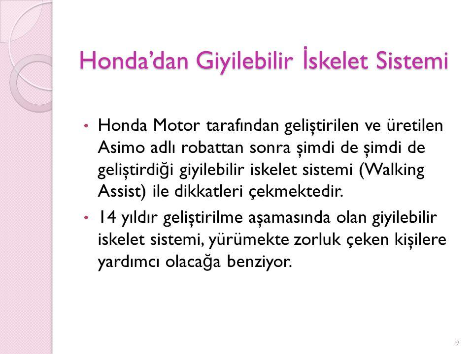 Honda'dan Giyilebilir İskelet Sistemi