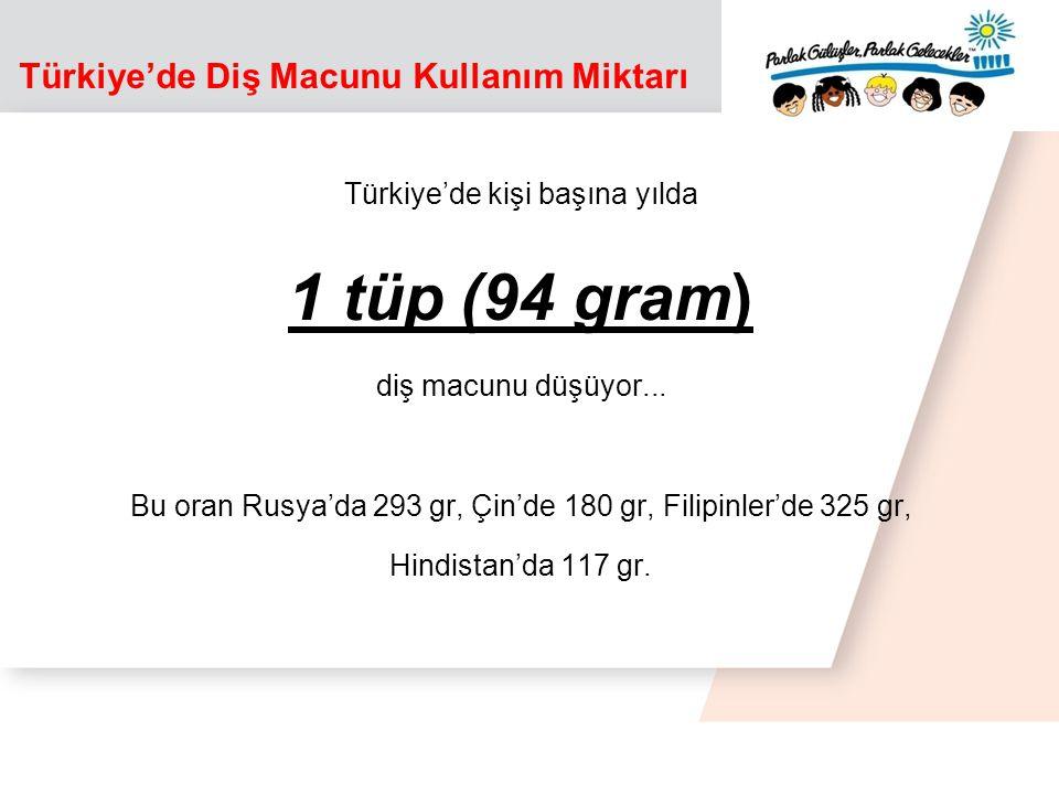 Türkiye'de Diş Macunu Kullanım Miktarı