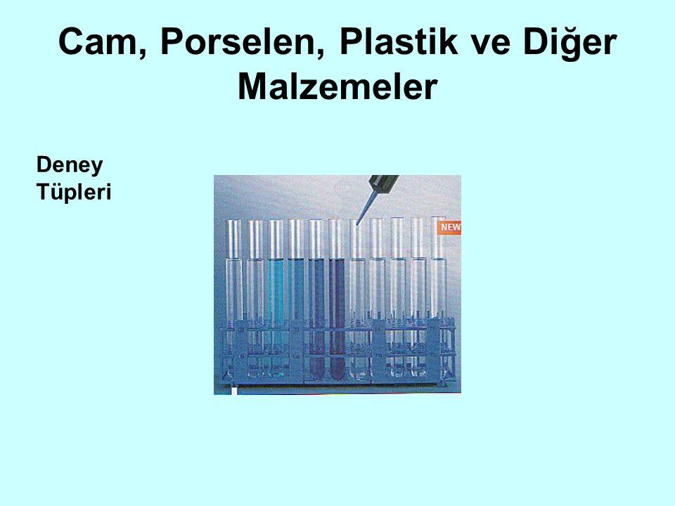 Cam, Porselen, Plastik ve Diğer Malzemeler
