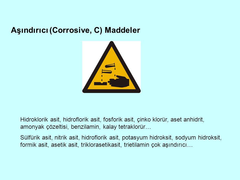 Aşındırıcı (Corrosive, C) Maddeler