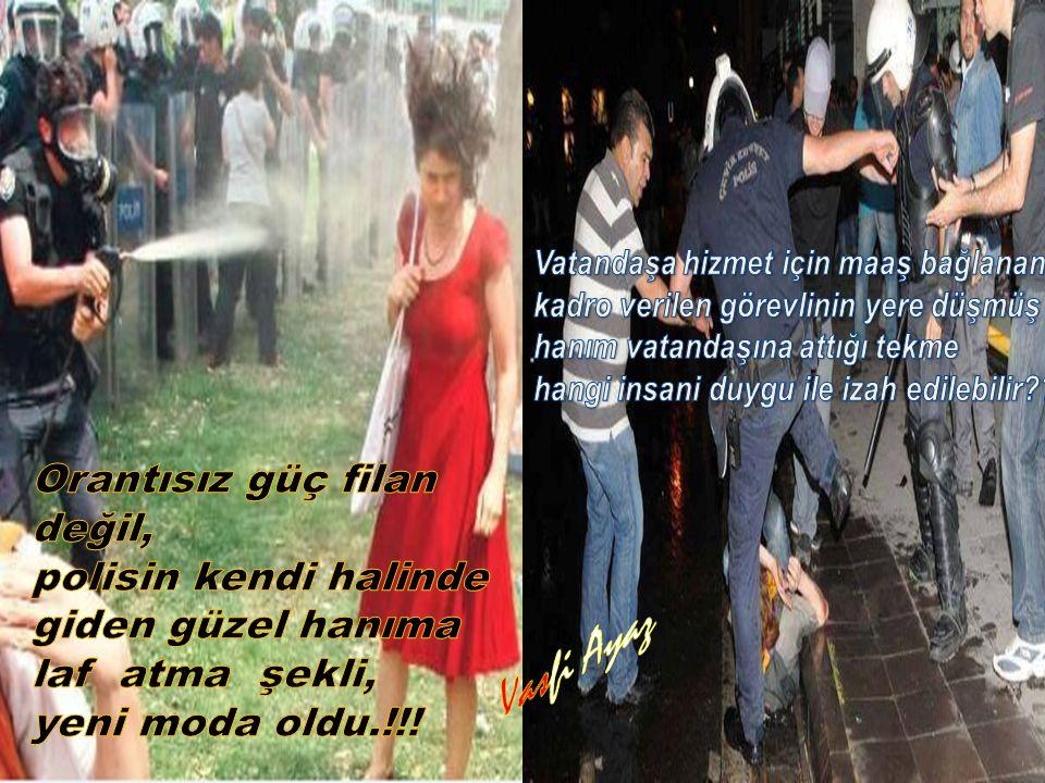 Vasfi Ayaz Orantısız güç filan değil, polisin kendi halinde