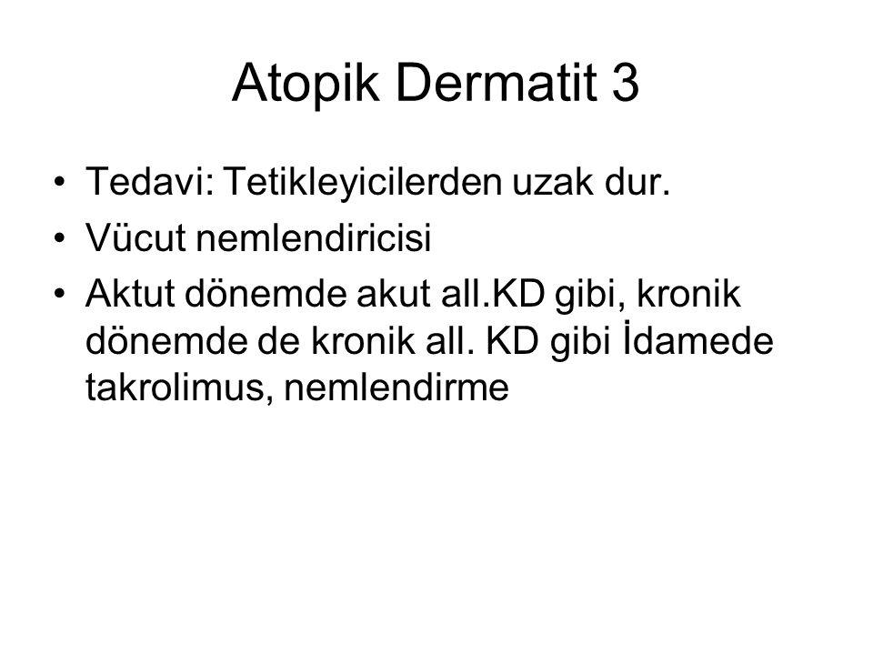 Atopik Dermatit 3 Tedavi: Tetikleyicilerden uzak dur.