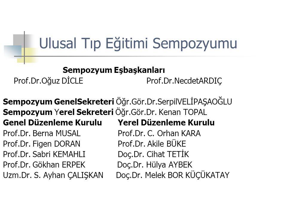 Ulusal Tıp Eğitimi Sempozyumu