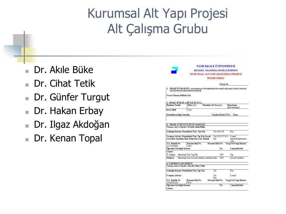 Kurumsal Alt Yapı Projesi Alt Çalışma Grubu