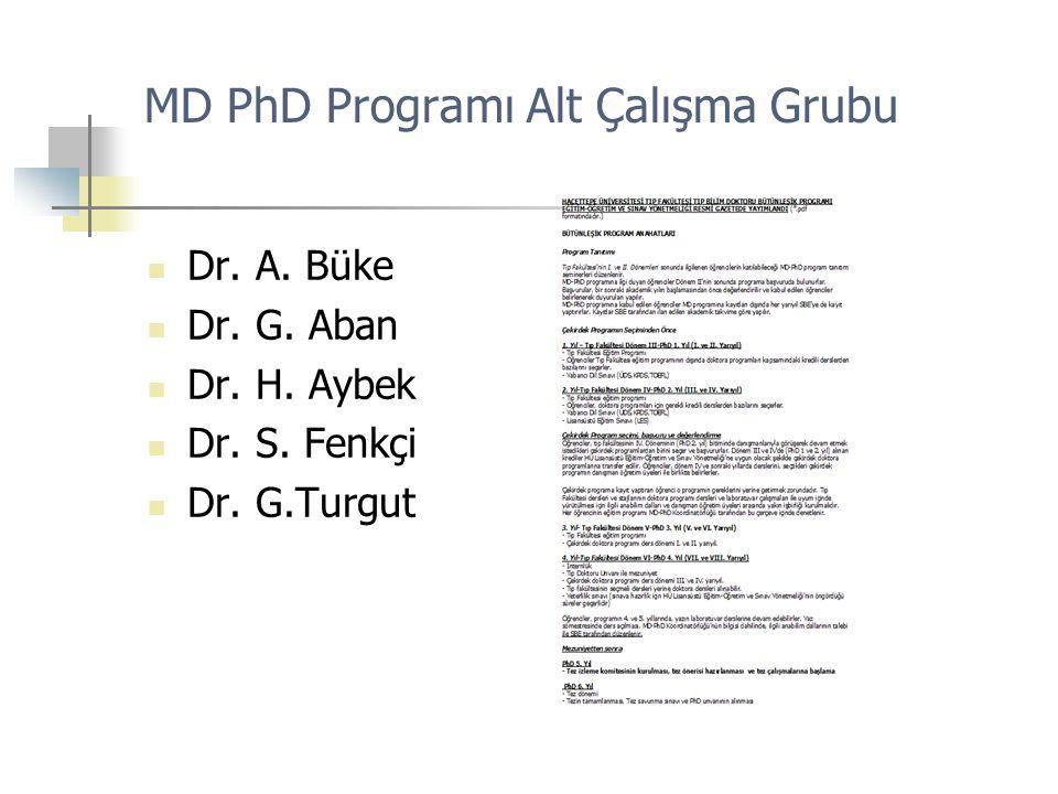MD PhD Programı Alt Çalışma Grubu