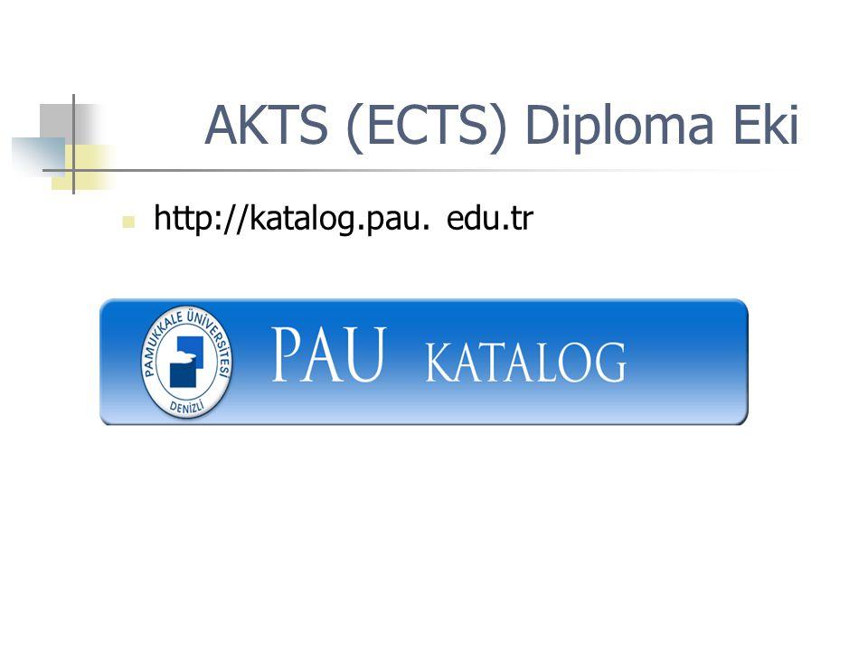 AKTS (ECTS) Diploma Eki