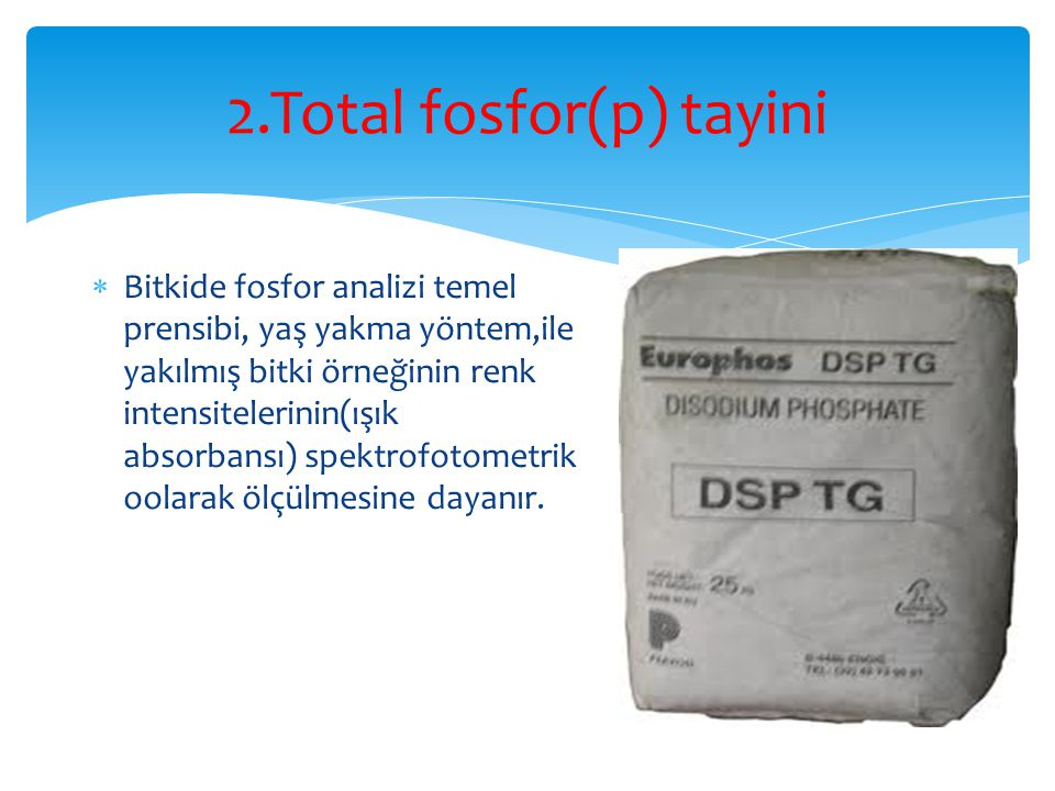 2.Total fosfor(p) tayini