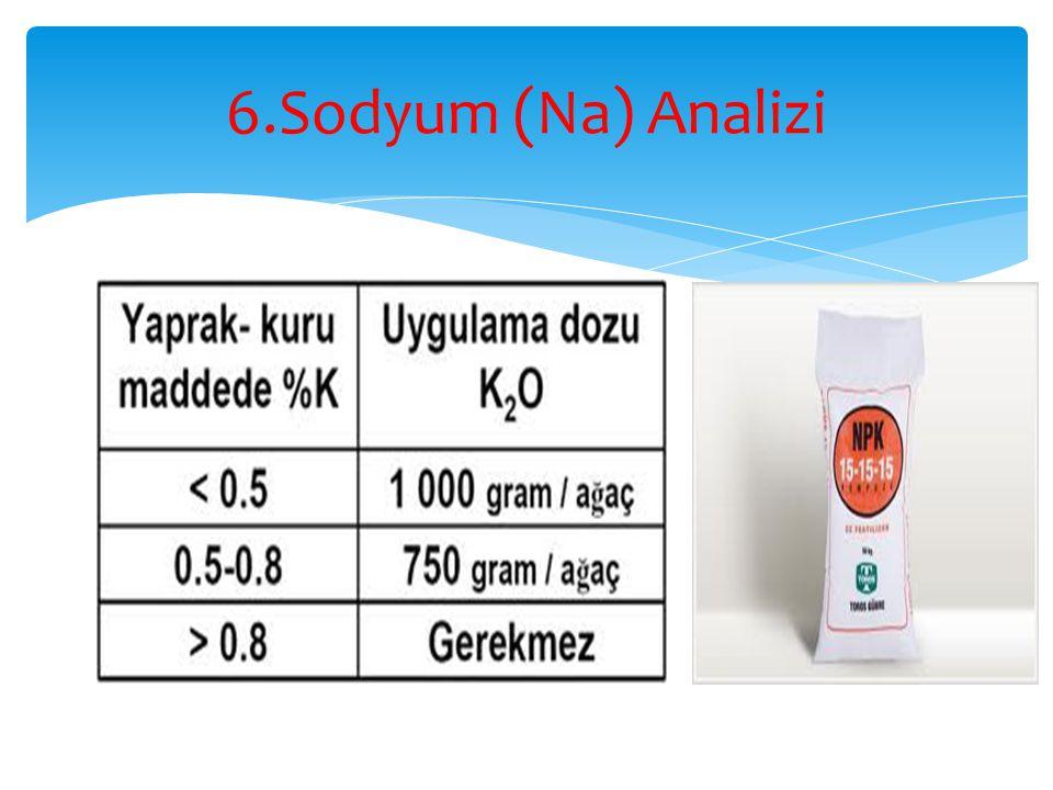6.Sodyum (Na) Analizi