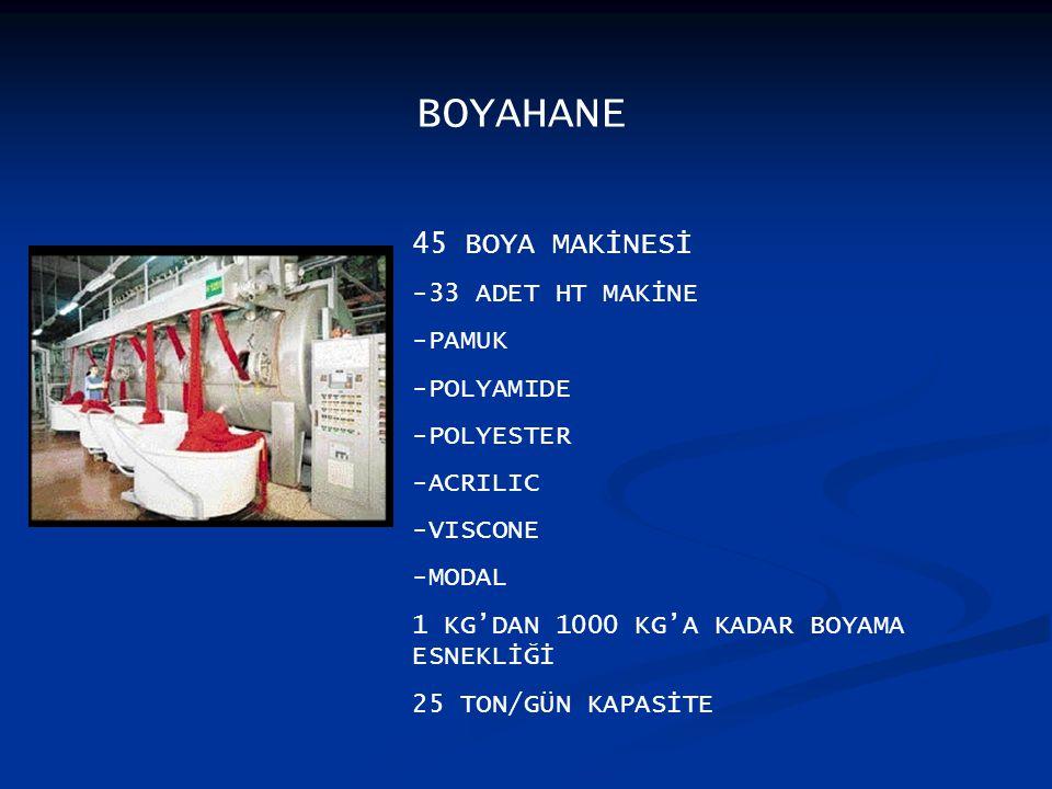 BOYAHANE 45 BOYA MAKİNESİ -33 ADET HT MAKİNE -PAMUK -POLYAMIDE