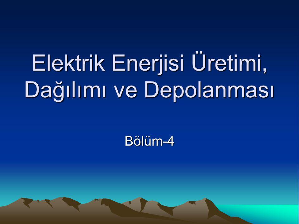 Elektrik Enerjisi Üretimi, Dağılımı ve Depolanması