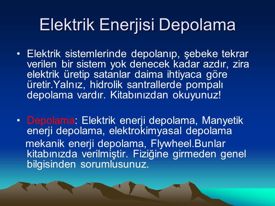 Elektrik Enerjisi Depolama