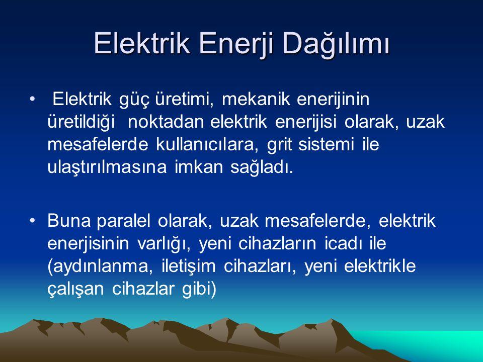Elektrik Enerji Dağılımı