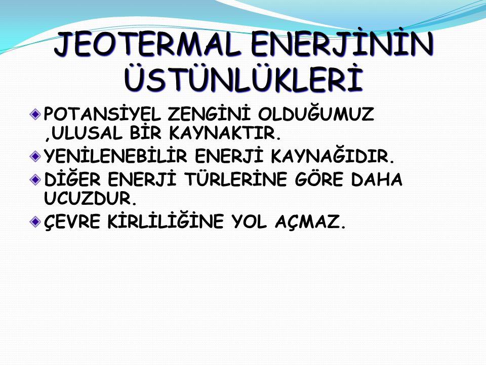 JEOTERMAL ENERJİNİN ÜSTÜNLÜKLERİ