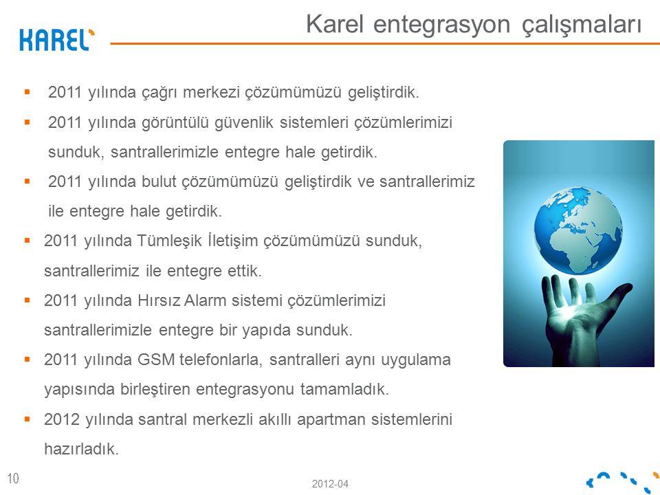 Karel entegrasyon çalışmaları