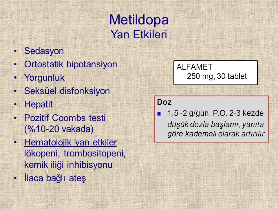 Metildopa Yan Etkileri