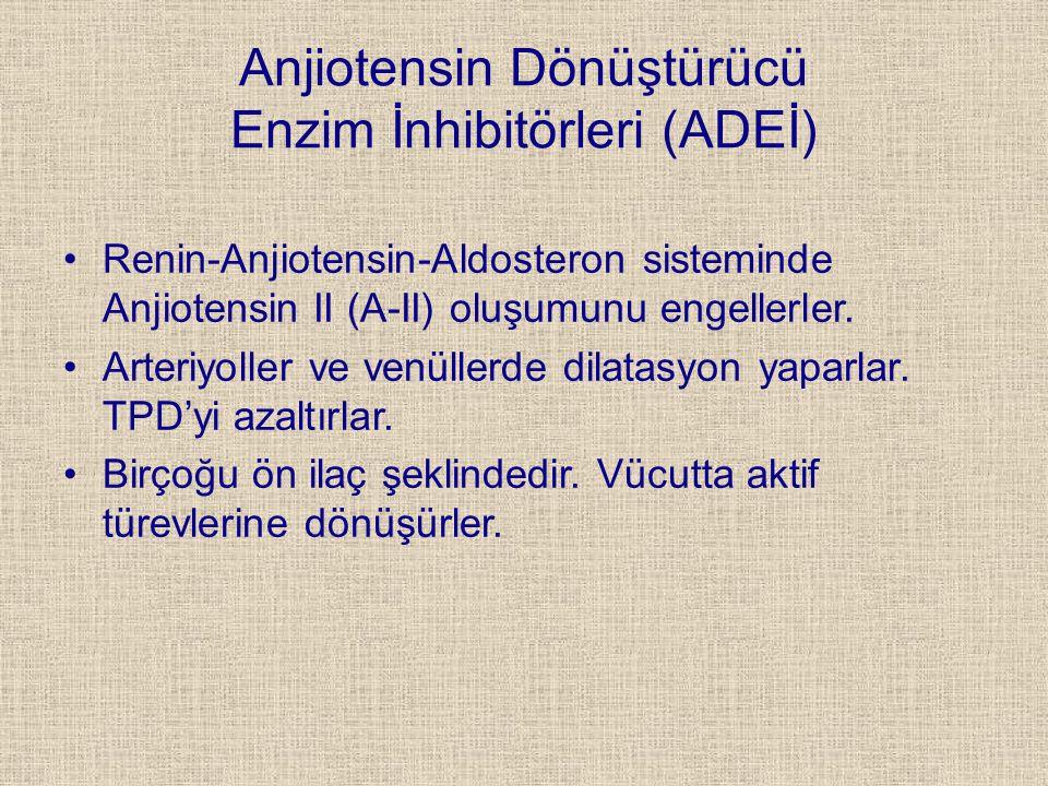 Anjiotensin Dönüştürücü Enzim İnhibitörleri (ADEİ)