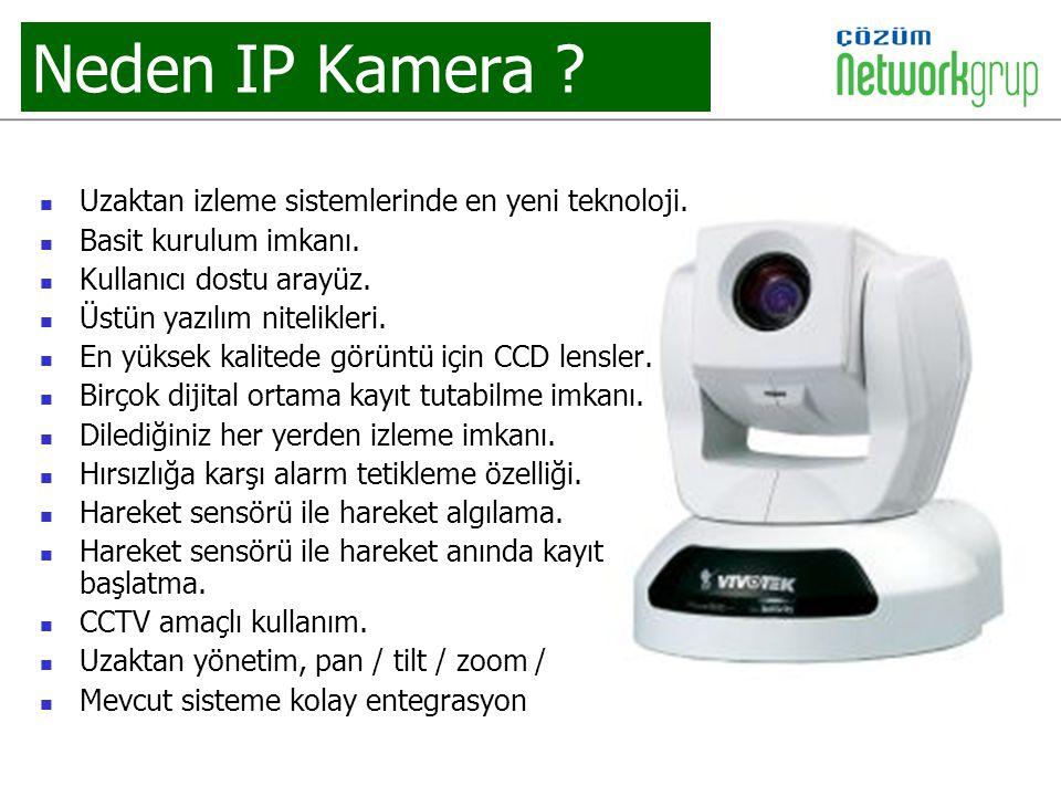 Neden IP Kamera Uzaktan izleme sistemlerinde en yeni teknoloji.