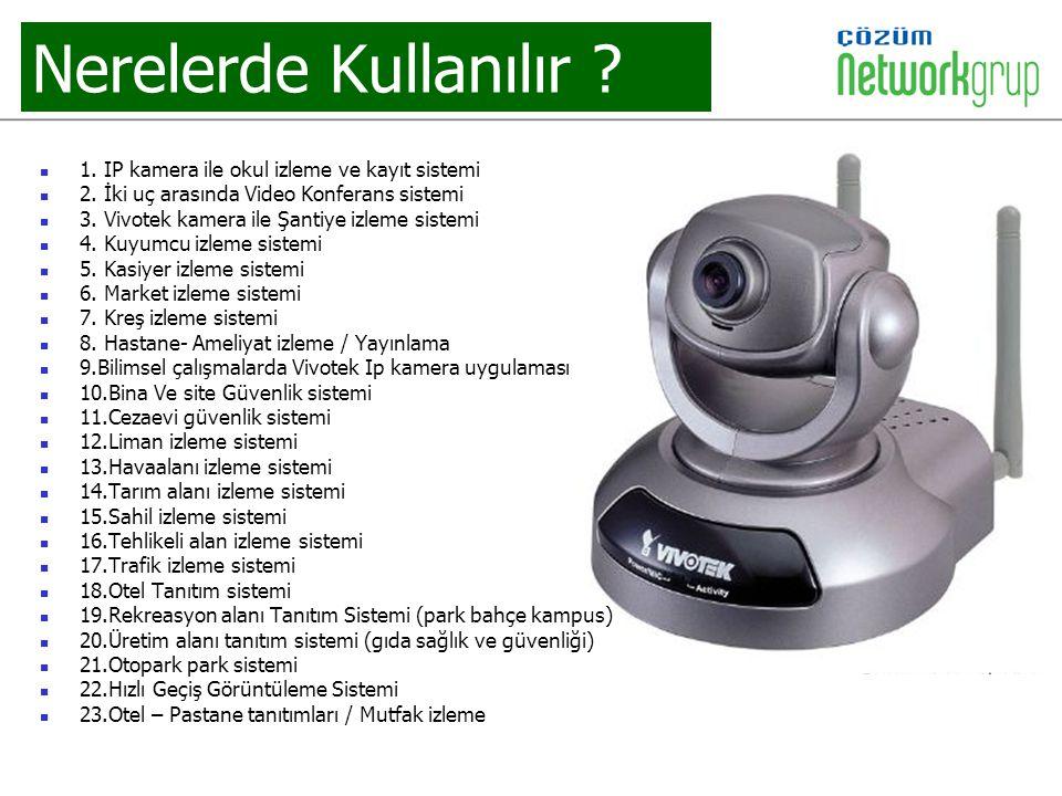 Nerelerde Kullanılır 1. IP kamera ile okul izleme ve kayıt sistemi