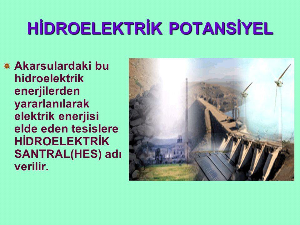 HİDROELEKTRİK POTANSİYEL