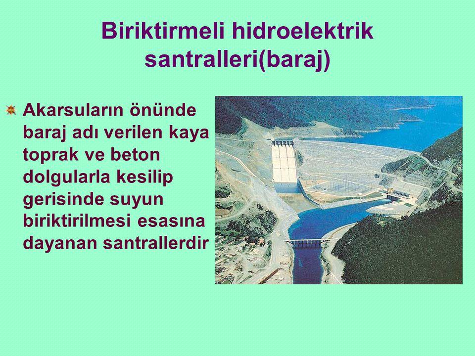 Biriktirmeli hidroelektrik santralleri(baraj)