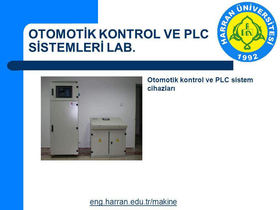 OTOMOTİK KONTROL VE PLC SİSTEMLERİ LAB.