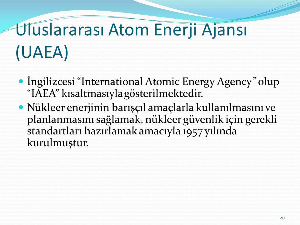Uluslararası Atom Enerji Ajansı (UAEA)