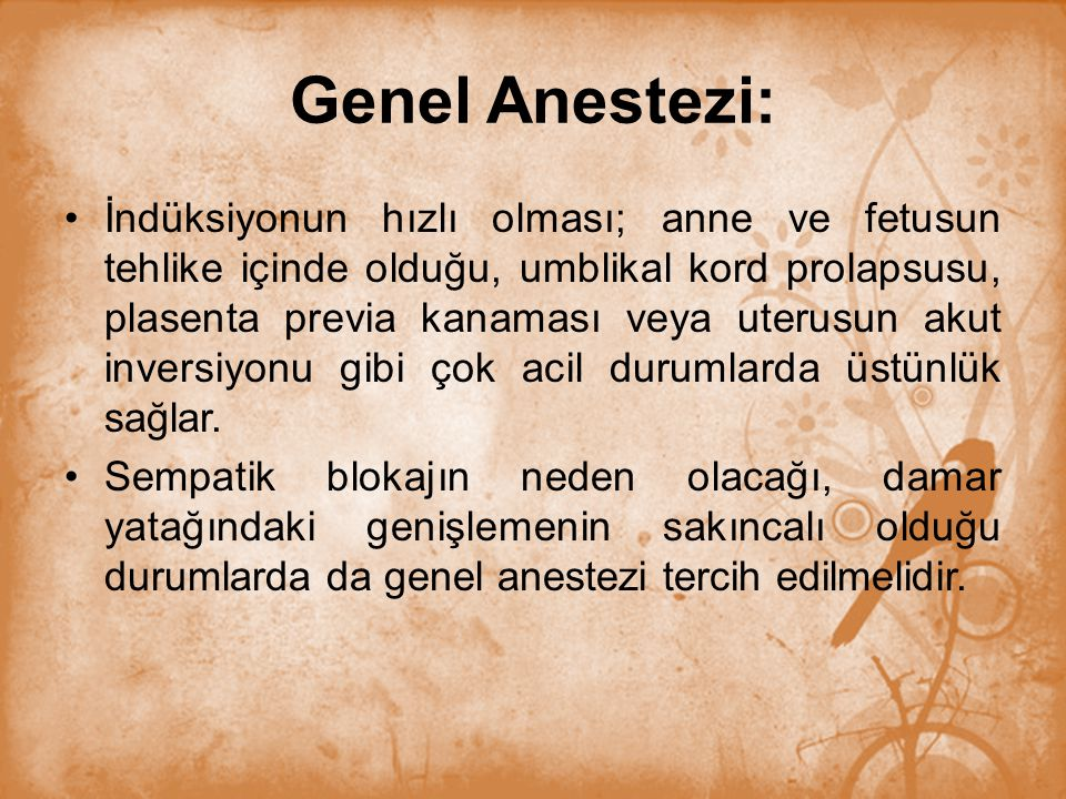 Genel Anestezi:
