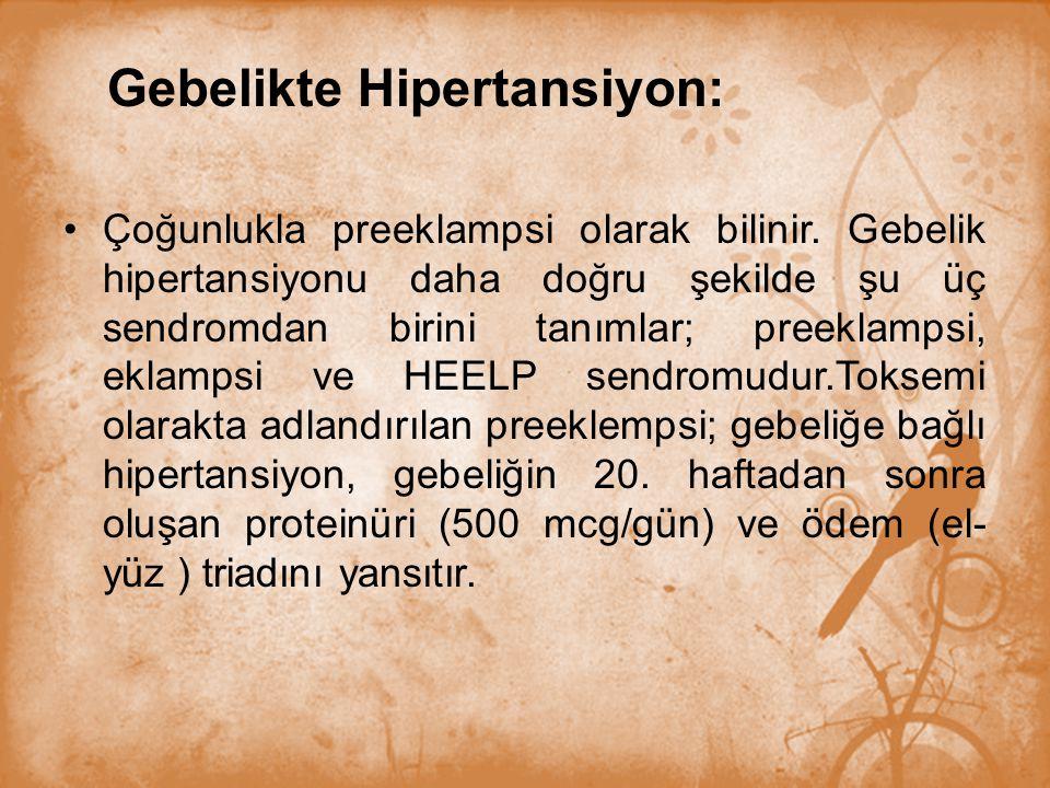Gebelikte Hipertansiyon: