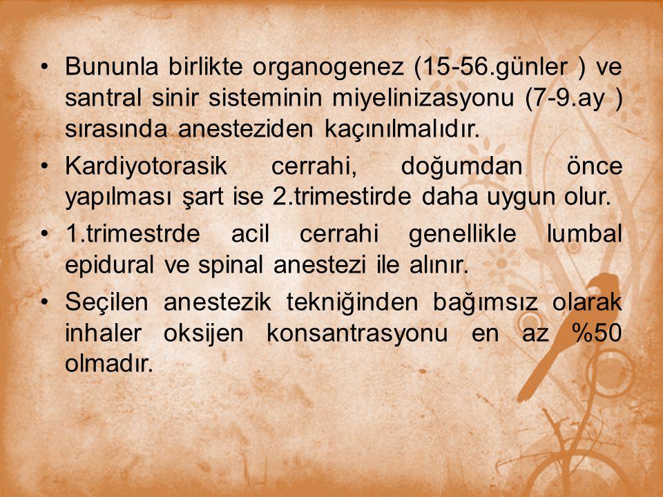 Bununla birlikte organogenez (15-56
