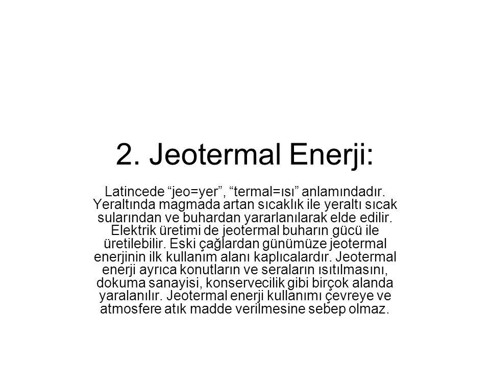 2. Jeotermal Enerji: