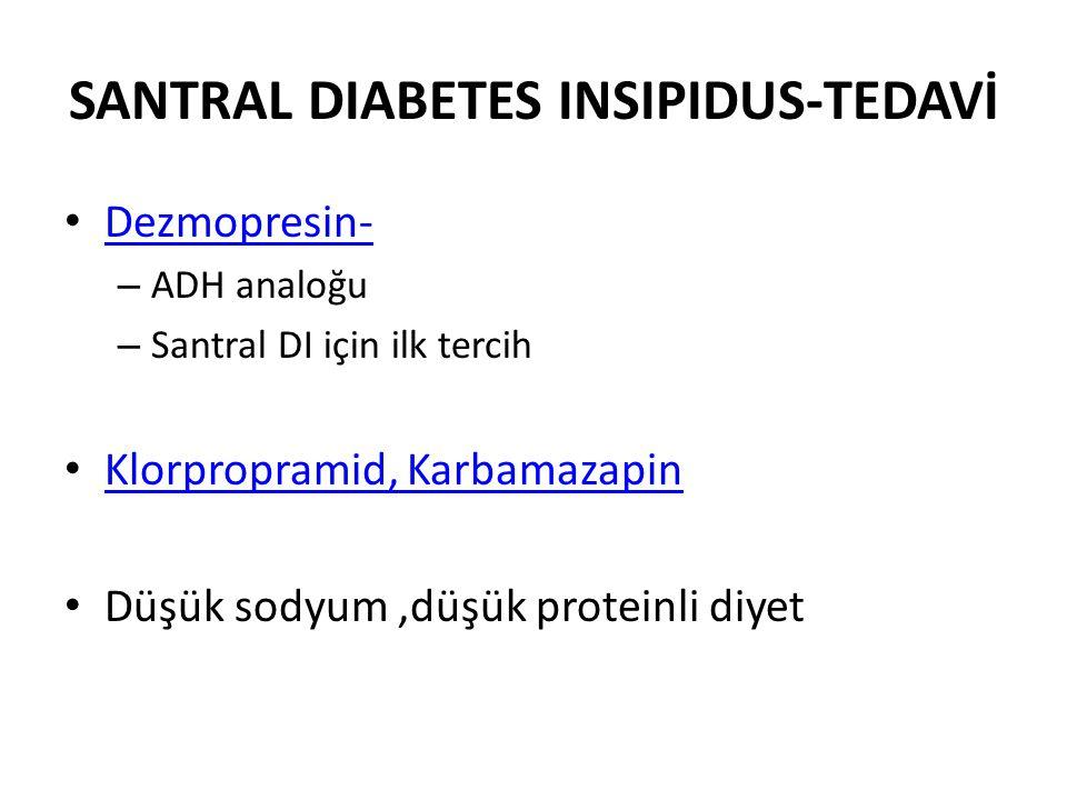 SANTRAL DIABETES INSIPIDUS-TEDAVİ