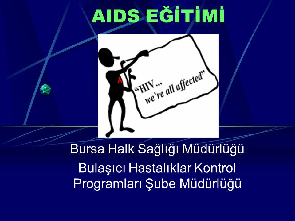 AIDS EĞİTİMİ Bursa Halk Sağlığı Müdürlüğü