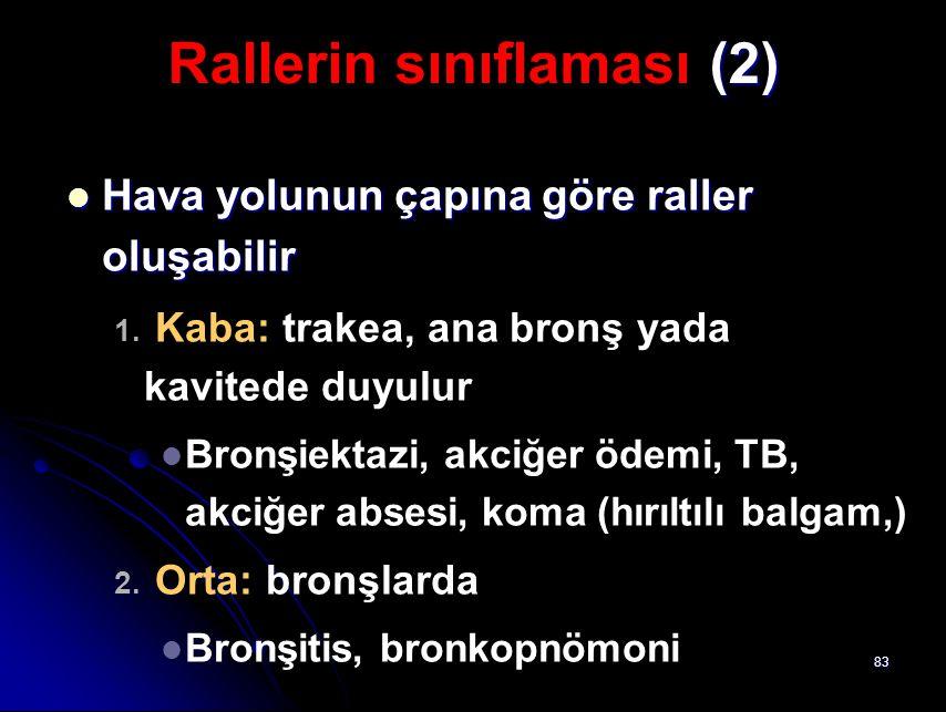 Rallerin sınıflaması (2)