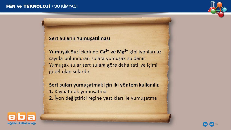 FEN ve TEKNOLOJİ / SU KİMYASI