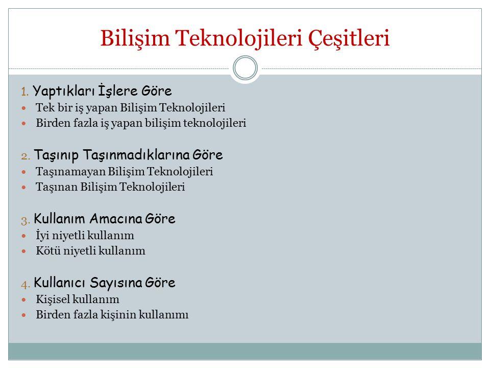 Bilişim Teknolojileri Çeşitleri