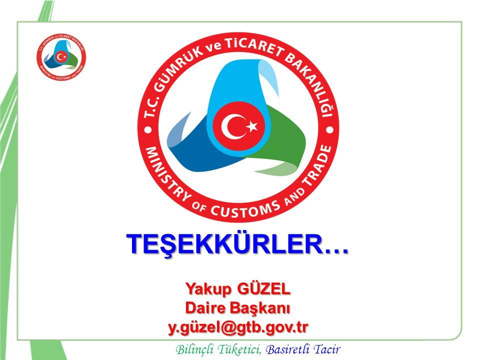TEŞEKKÜRLER… Yakup GÜZEL Daire Başkanı y.güzel@gtb.gov.tr