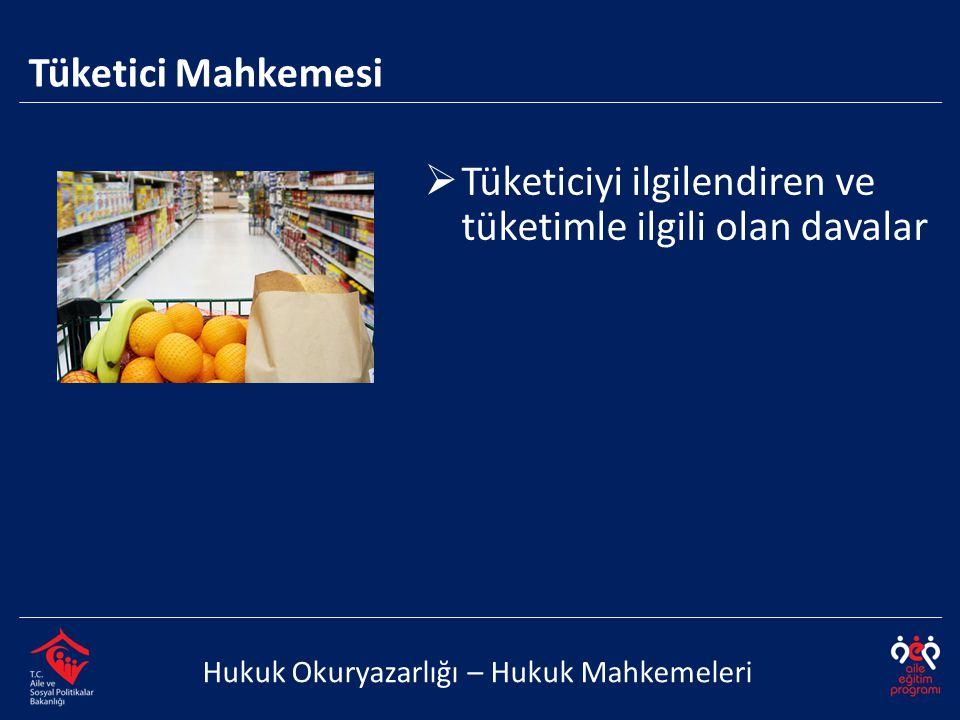 Tüketiciyi ilgilendiren ve tüketimle ilgili olan davalar