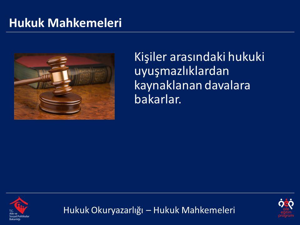 Kişiler arasındaki hukuki uyuşmazlıklardan kaynaklanan davalara
