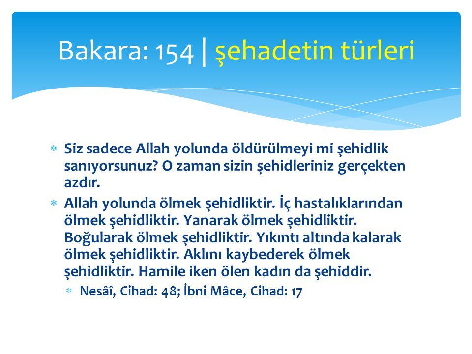 Bakara: 154 | şehadetin türleri