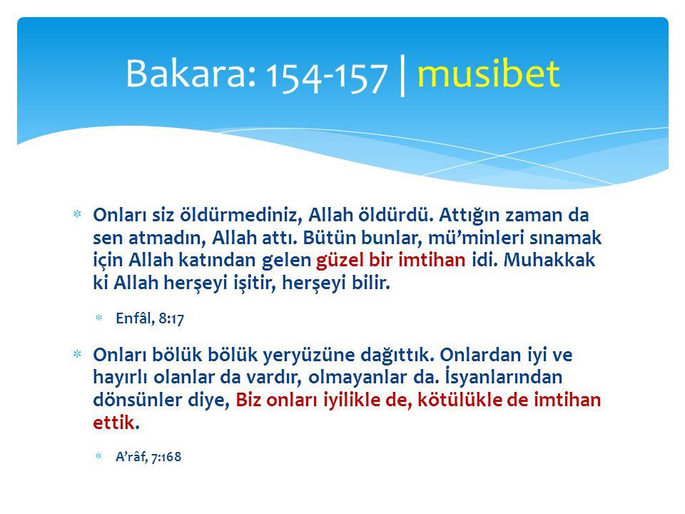 Bakara: 154-157 | musibet