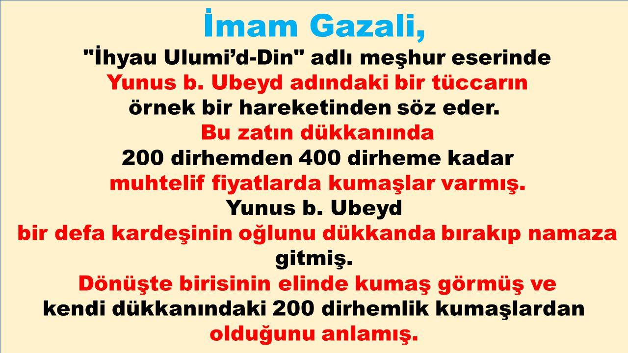 İmam Gazali, İhyau Ulumi'd-Din adlı meşhur eserinde