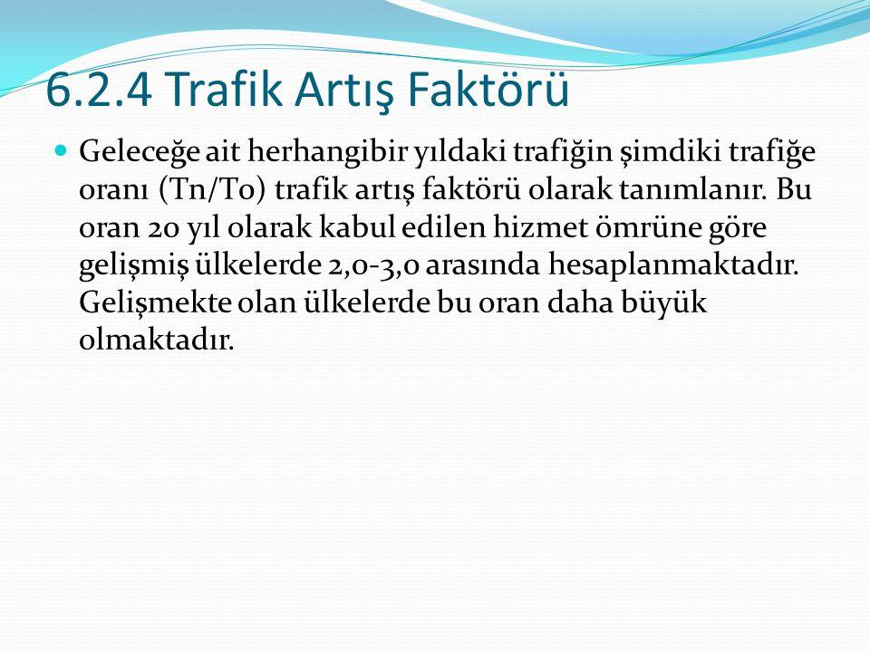 6.2.4 Trafik Artış Faktörü