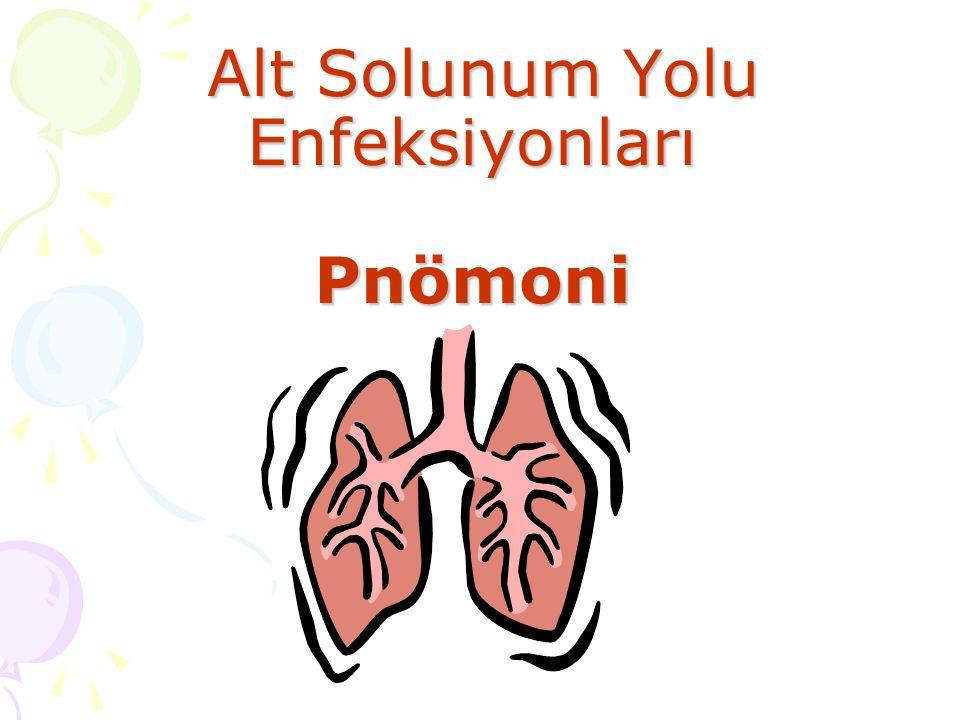 Alt Solunum Yolu Enfeksiyonları Pnömoni