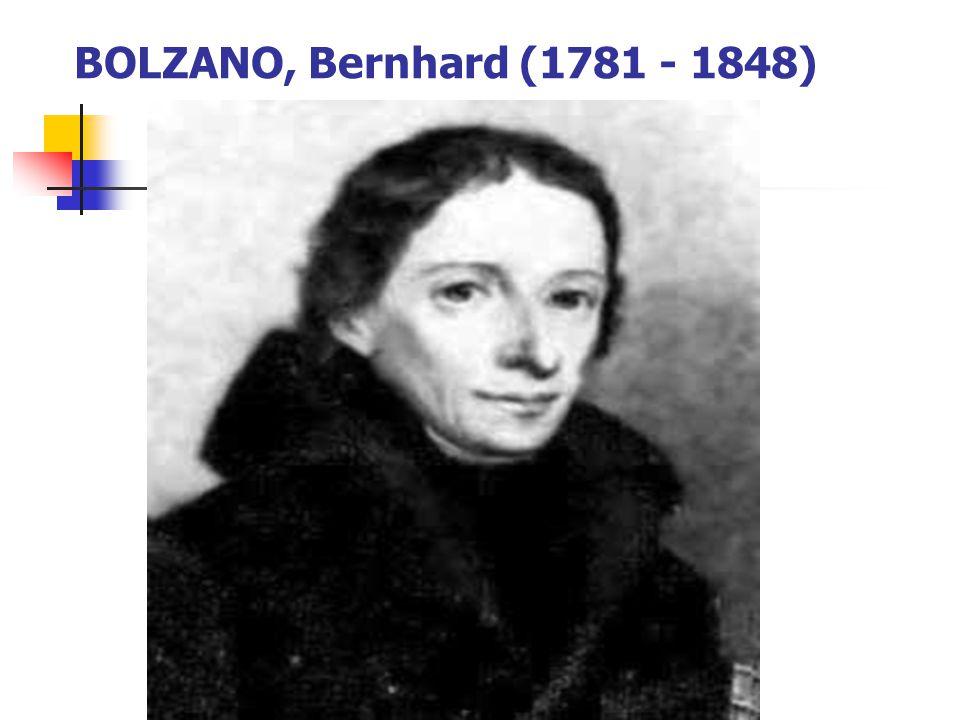 BOLZANO, Bernhard (1781 - 1848)