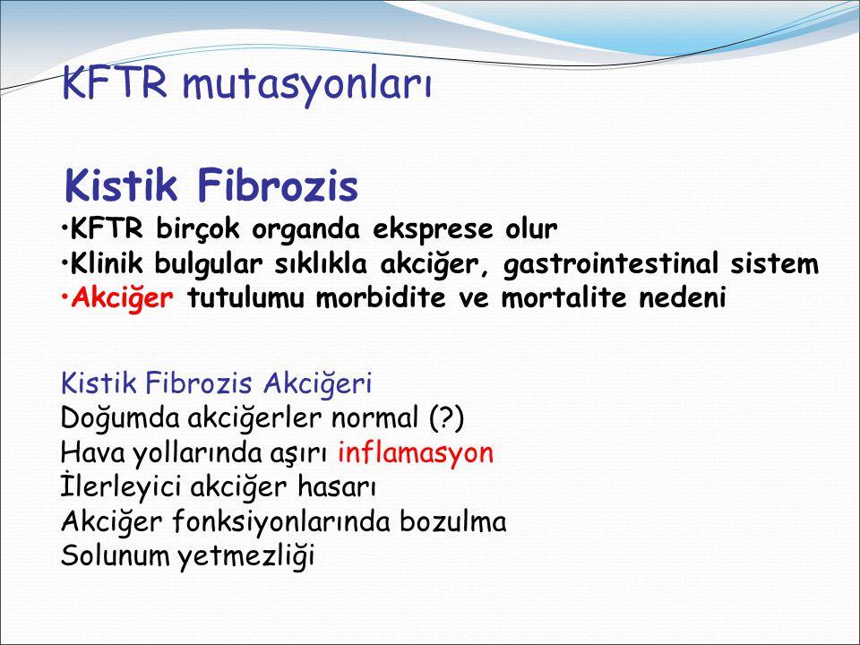 KFTR mutasyonları KFTR birçok organda eksprese olur