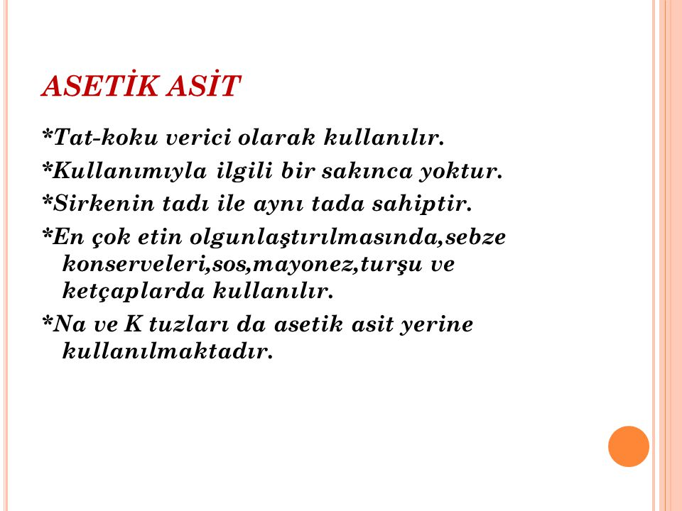 ASETİK ASİT