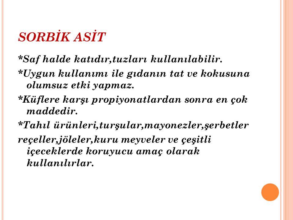 SORBİK ASİT
