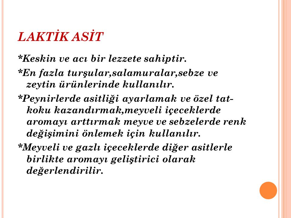 LAKTİK ASİT