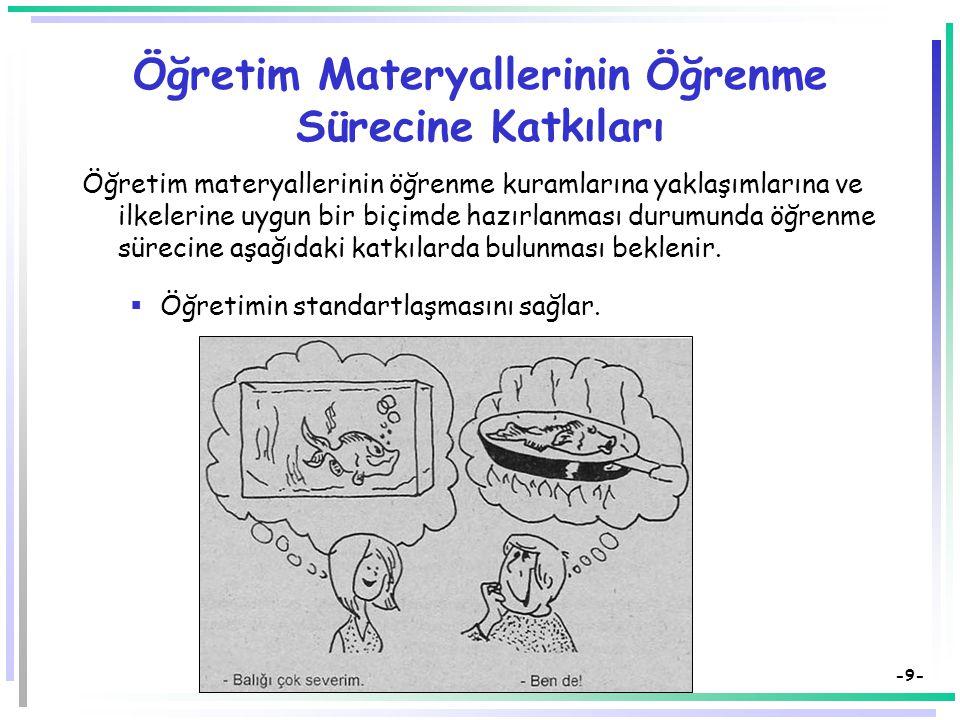 Öğretim Materyallerinin Öğrenme Sürecine Katkıları