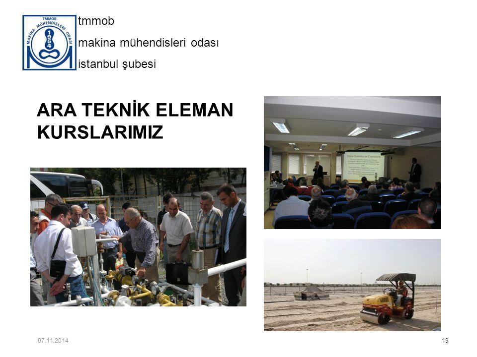 ARA TEKNİK ELEMAN KURSLARIMIZ 07.11.2014